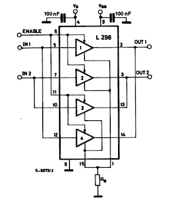 Dc motor driver with h bridge ic l293d ic schematics for Dc motor driver ic