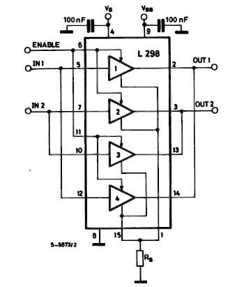 Free circuit diagrams dc motor driver with h bridge ic l293d for Dc motor driver ic