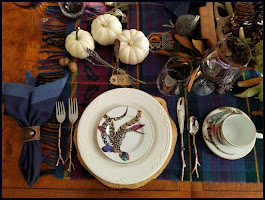 Richly Rustic, Romantic Autumn Tablescape