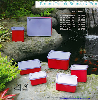 Info & Harga Twin Tulip Tulipware 2013 : Roman Purple Square & Fun
