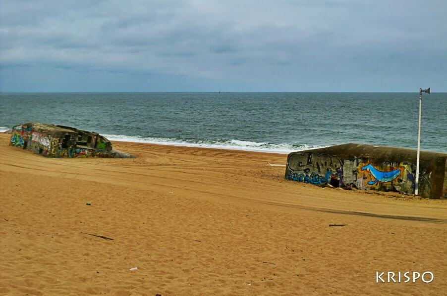 bunkers de la playa de labenne en las landas francesas