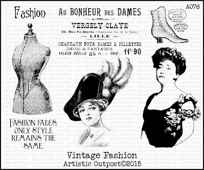 Artistic Outpost Stamp Set - Vintage Fashion