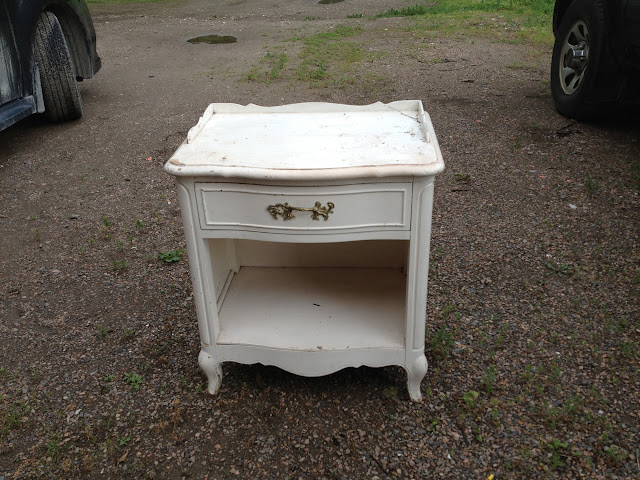 Shabby White Nightstand