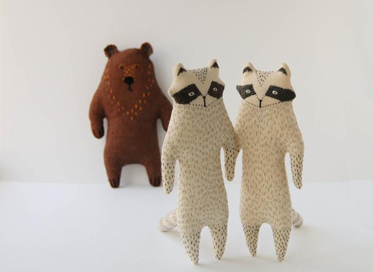 woodland creature toys