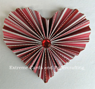 how to make a pleated heart