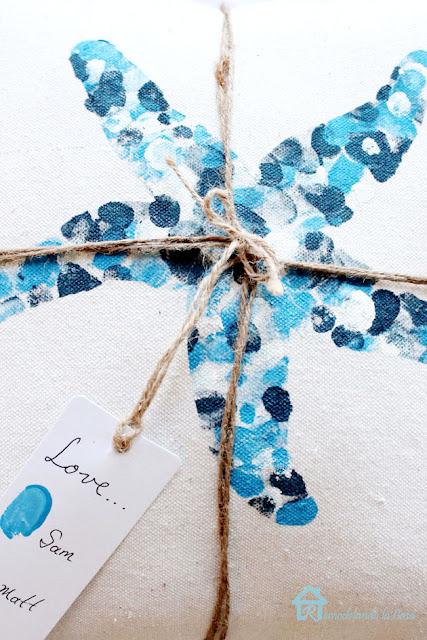 envelope pillow with coastal decor