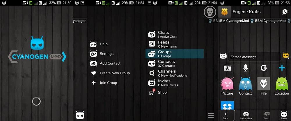 BBM Modifikasi versi CyanogenMod Terbaru | Base 2.5.0.36!