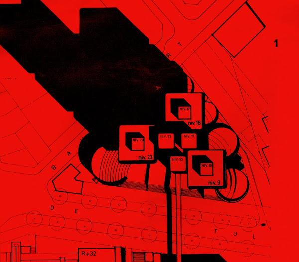 astudejaoublie Paris 13ème - Rue de Tolbiac et rue Baudricourt.  Ensemble Universitaire, Faculté de lettres et de droit.  Architectes: Michel Andrault, Pierre Parat, Nathan Celnik, Aydin Guvan.  Sculpteurs: Y. et B. Alleaume.  Construction: Février 1972 à septembre 1973.