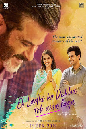 Poster Of Bollywood Movie Ek Ladki Ko Dekha Toh Aisa Laga 2019 300MB Pdvd Full Hindi Movie