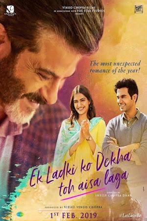 Poster Of Bollywood Movie Ek Ladki Ko Dekha Toh Aisa Laga 2019 300MB Pdvd Full Hindi Movie