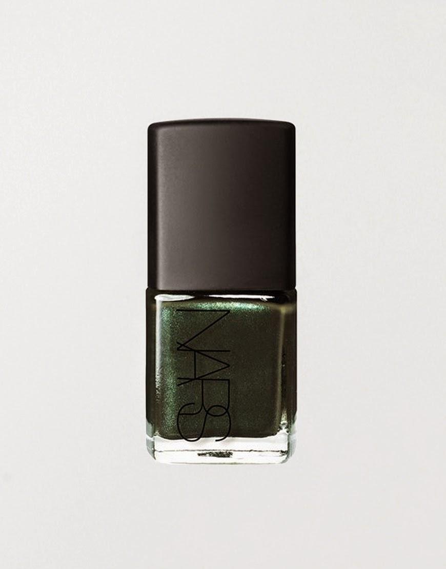 nars dark green nail polish