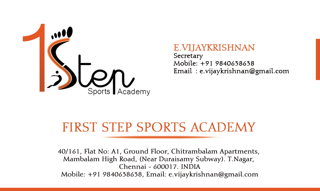 Snowdrop Creative Studio: First Step Sports Academy Business Card
