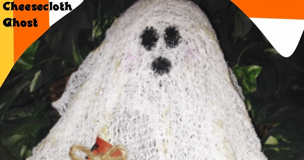 life u0026 39 s journey to perfection  halloween craft  8  gauze or cheese cloth ghosts