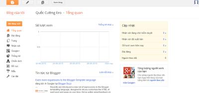 Bước 3 khi làm quen với Blogger