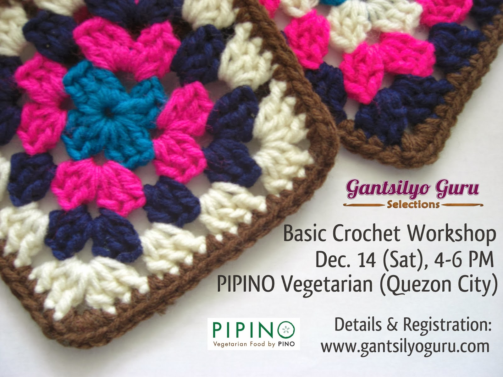 My last basic crochet workshop for the year will be on Dec. 14 (Sat ...