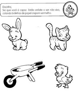 Atividades Educacao Infantil Meio Ambiente Seres Vivos Ecologia Animais Exerc Desenhos 2