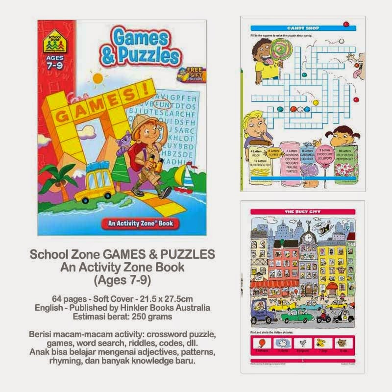 Book Cover School Zone : Planet bayi school zone games puzzles an activity