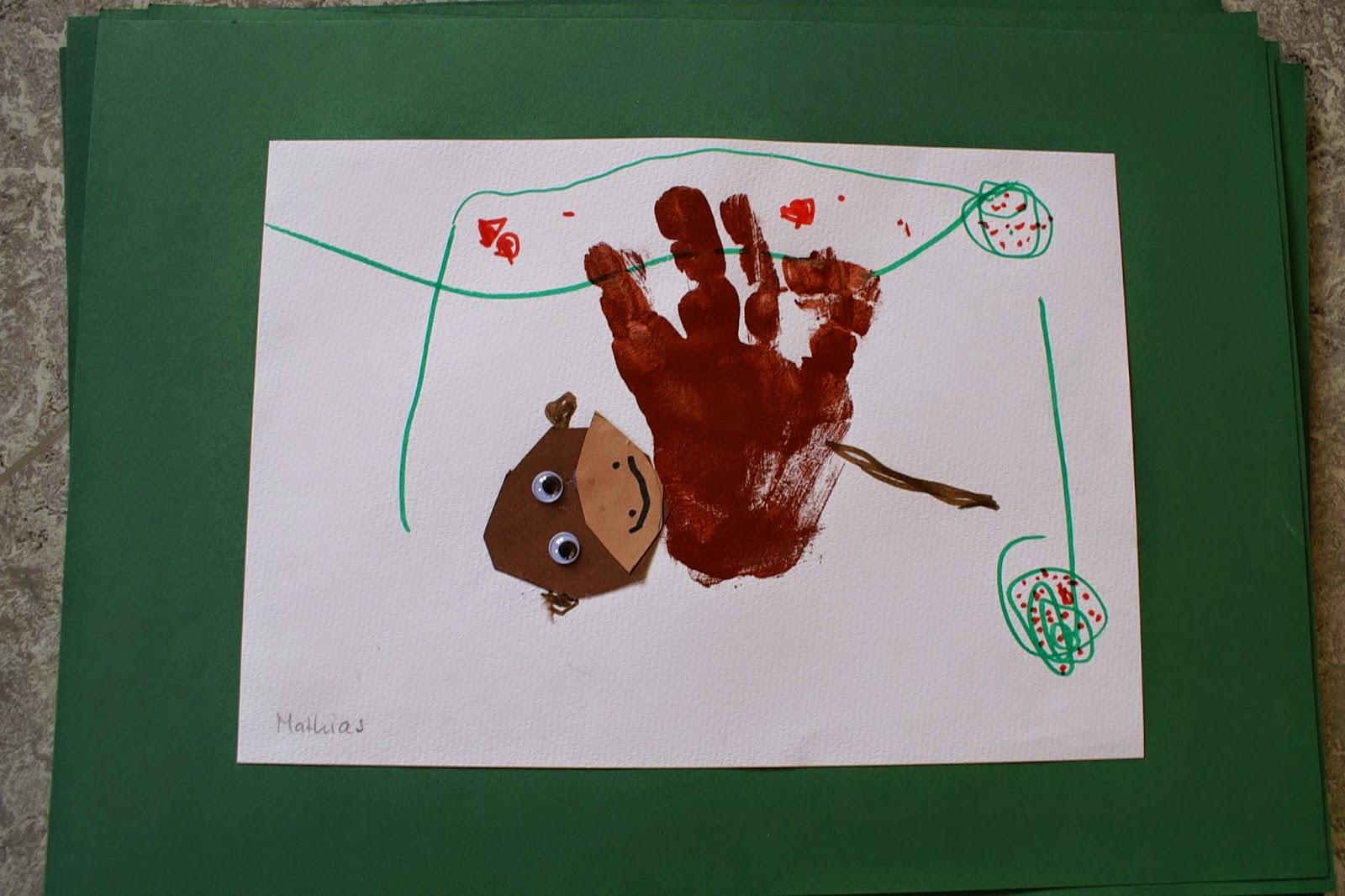Zeichnen im Kindergarten Affe