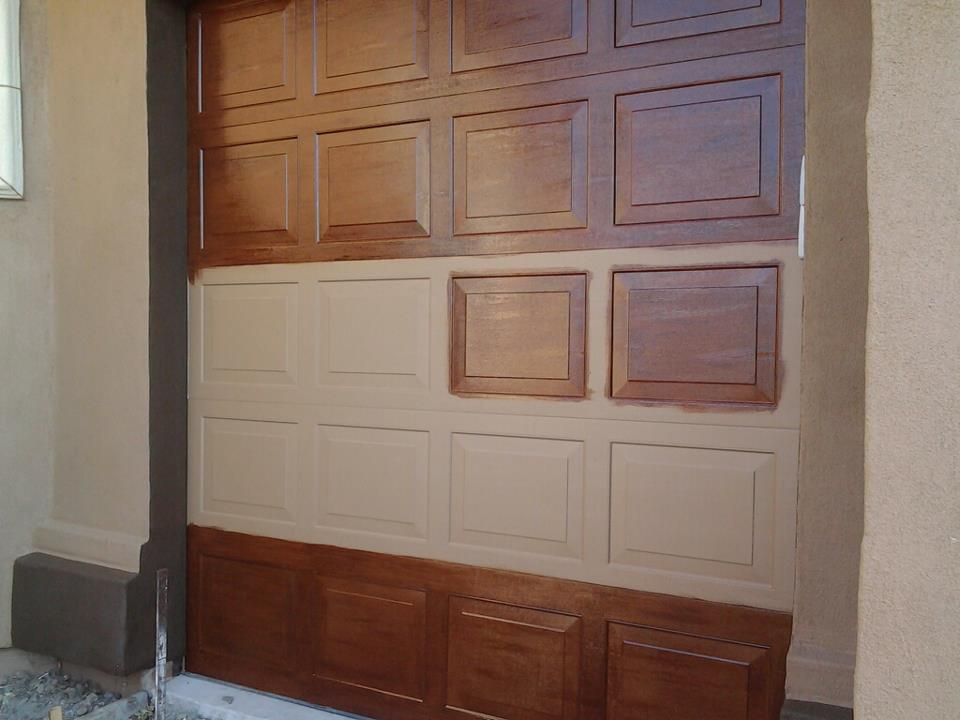 Kid friendly luxury home faux wood garage doors for Fake wood garage doors