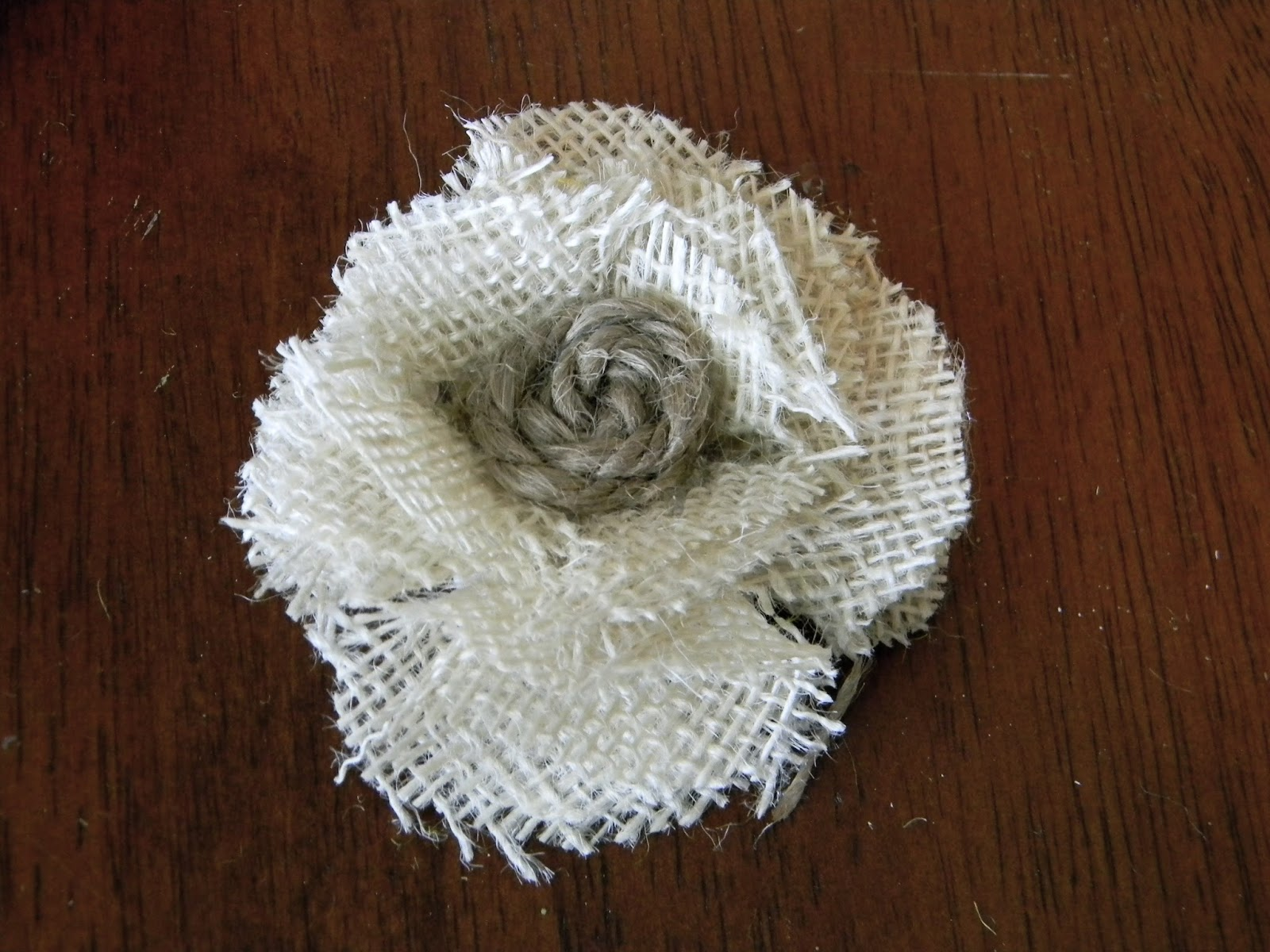 Little Bit of Paint Burlap Flower Tutorial