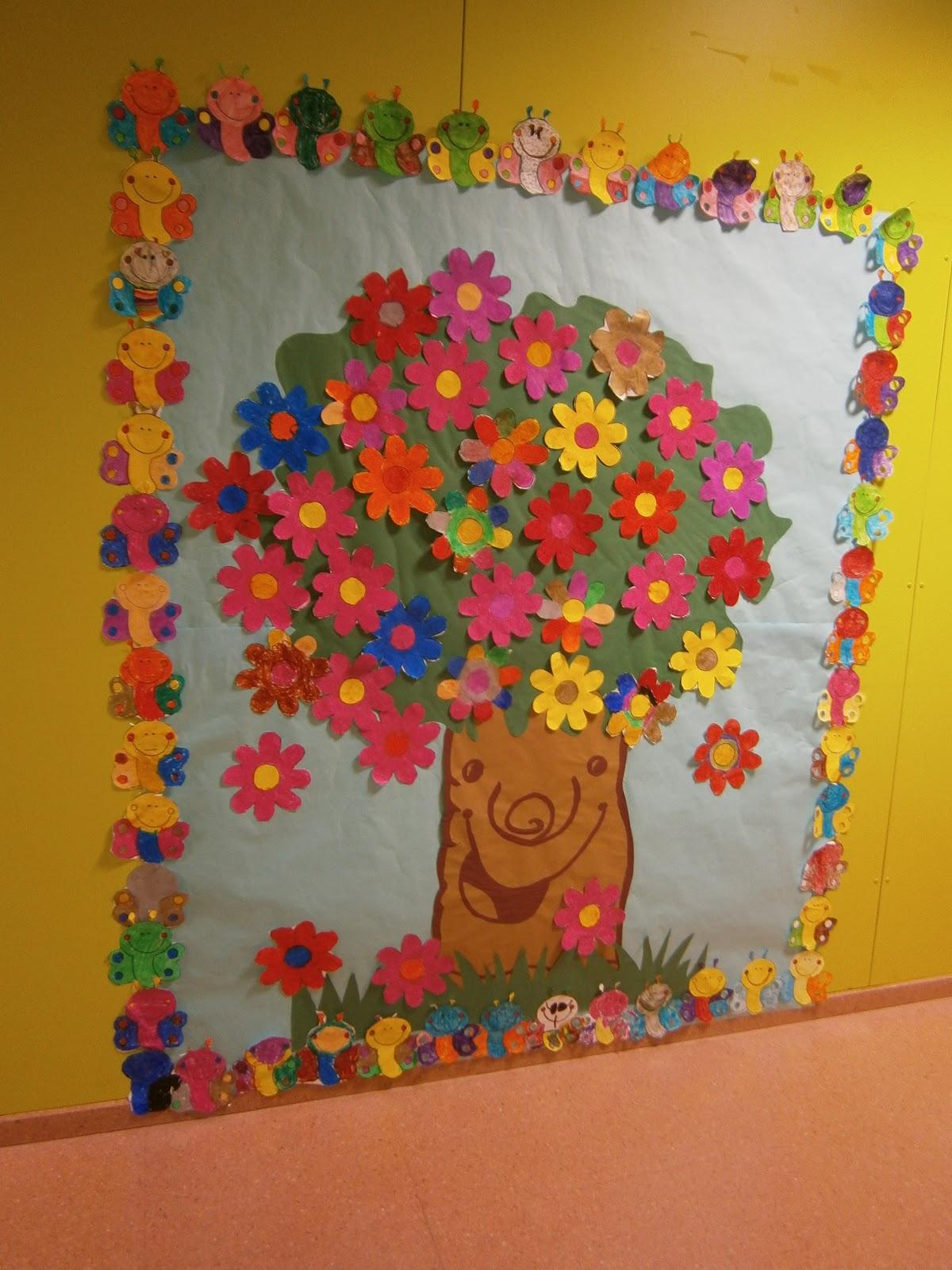 La clase de miren mis experiencias en el aula el rbol for Decoracion para puertas de preescolar