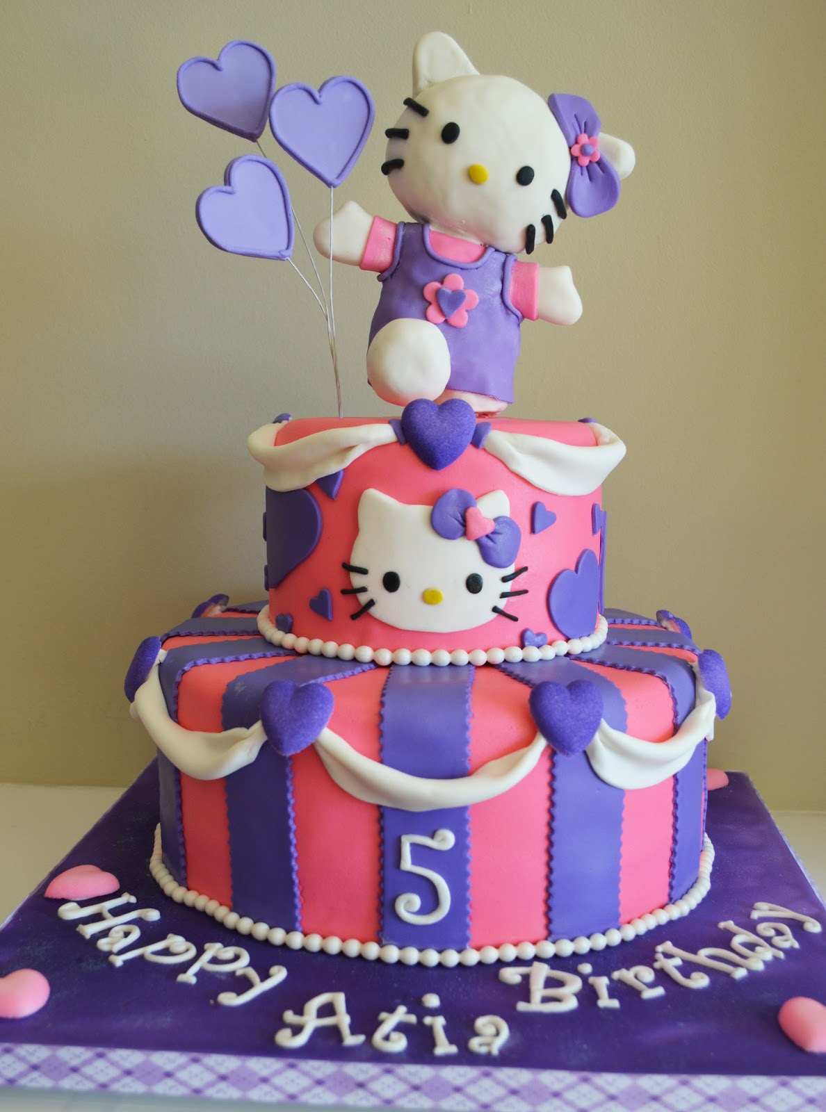 Birthday Cake Pictures Hello Kitty : Tickled Pink Cakes: Hello Kitty Cake