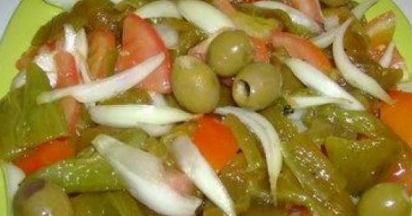 Salade de poivrons verts grill s chladet el felfla - Recette de cuisine algerienne moderne ...