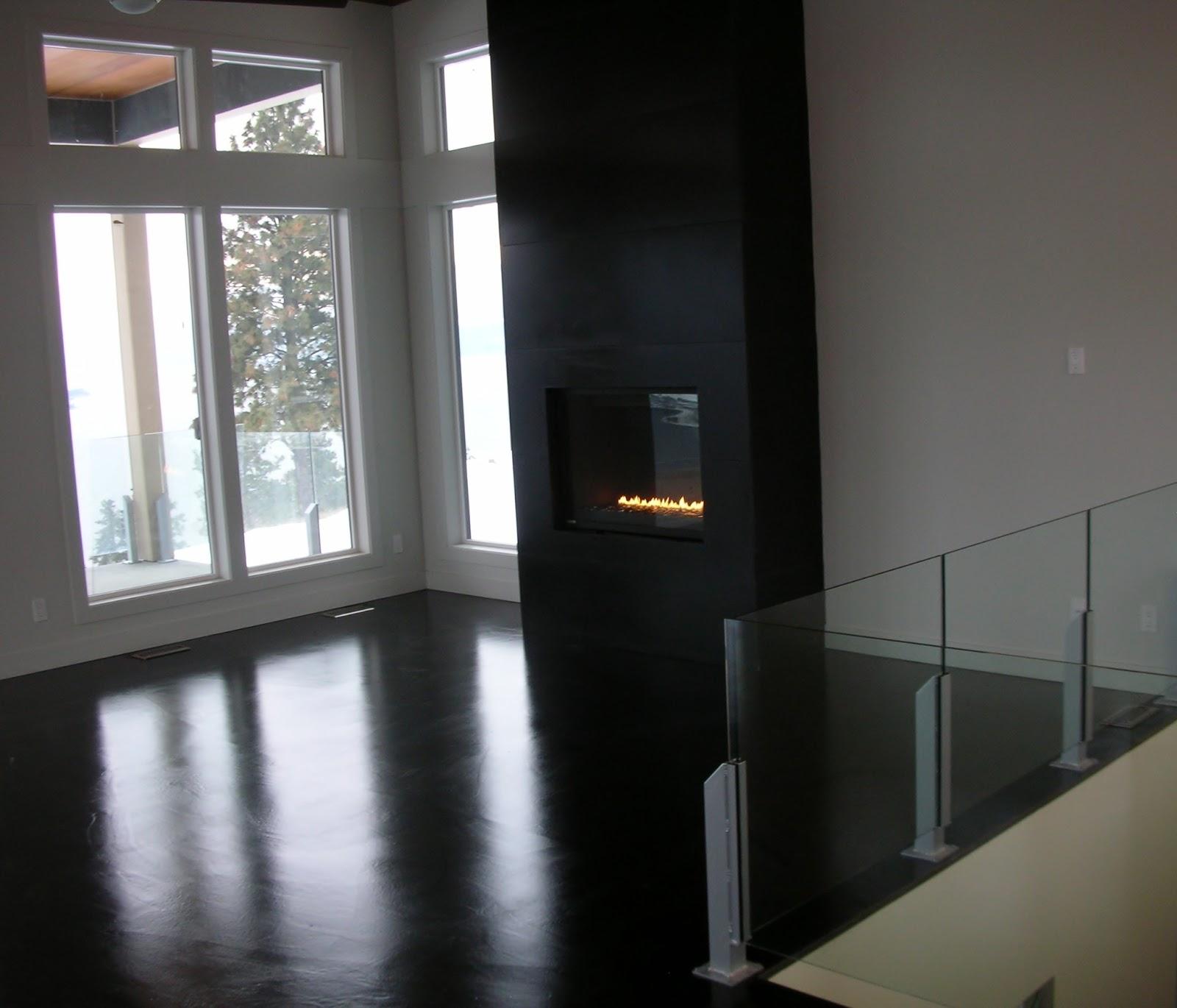 mode concrete modern and super cool black concrete floor. Black Bedroom Furniture Sets. Home Design Ideas