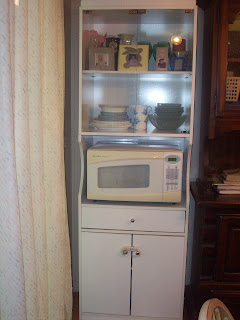 New microwave cabinet to help with organizing