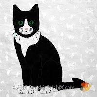 BOM esmoquin gatos/ Parche de calabaza