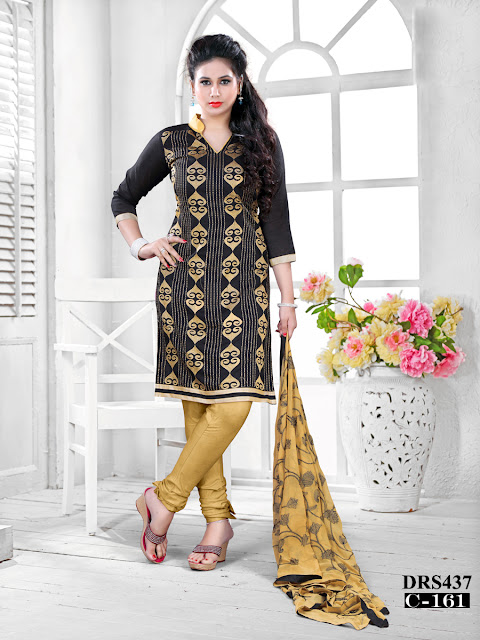 Latest Banarasi Jacquard Churidar Dress Material