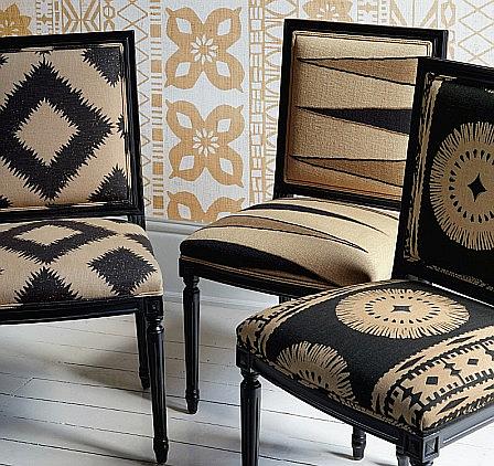 black and tan linen fabrics