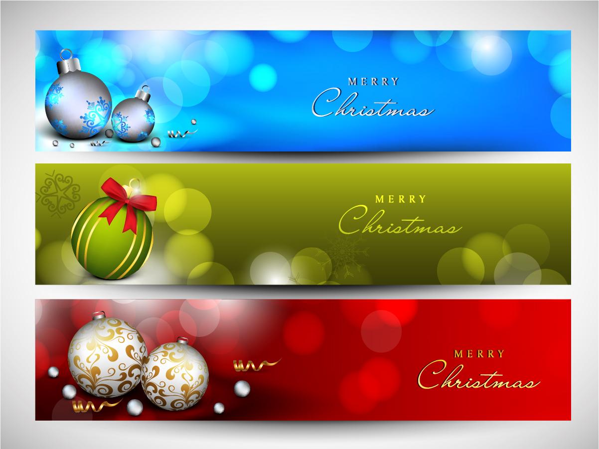 新年・クリスマスのバナーと背景 2013 New Year and Christmas backgrounds. イラスト素材1