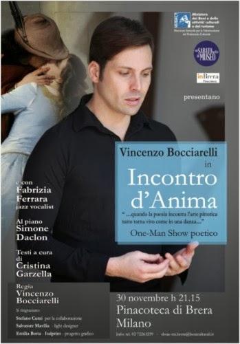 Spettacoli a Milano: incontro d'anima, Vincenzo Bocciarelli in Pinacoteca di Brera sabato 30 novembre