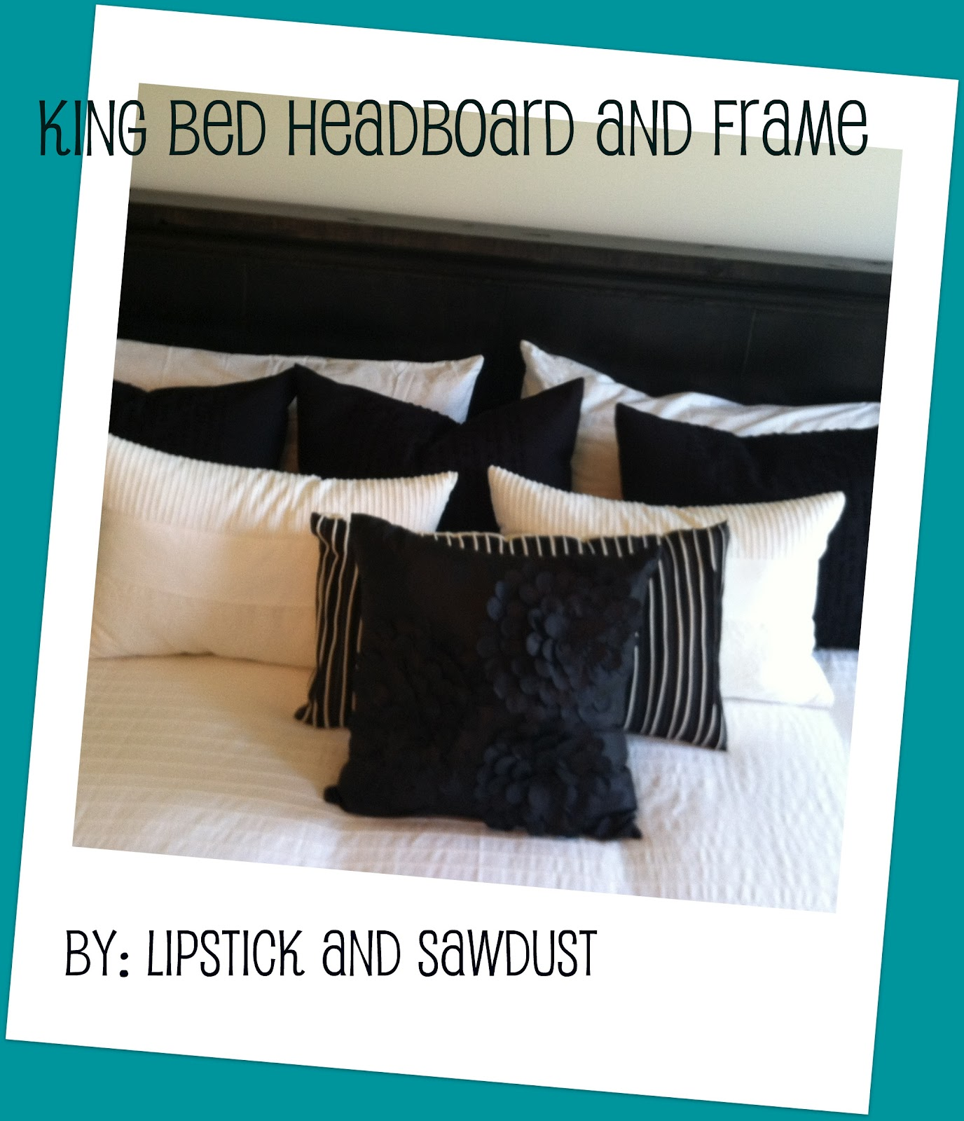 Lipstick and Sawdust King Bed is plete