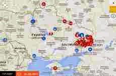 LiveUAMap: mapa online interactivo de la crisis entre Ucrania y Rusia