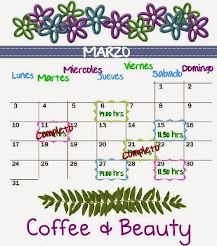 Calendario de Clases Coffee & Beauty