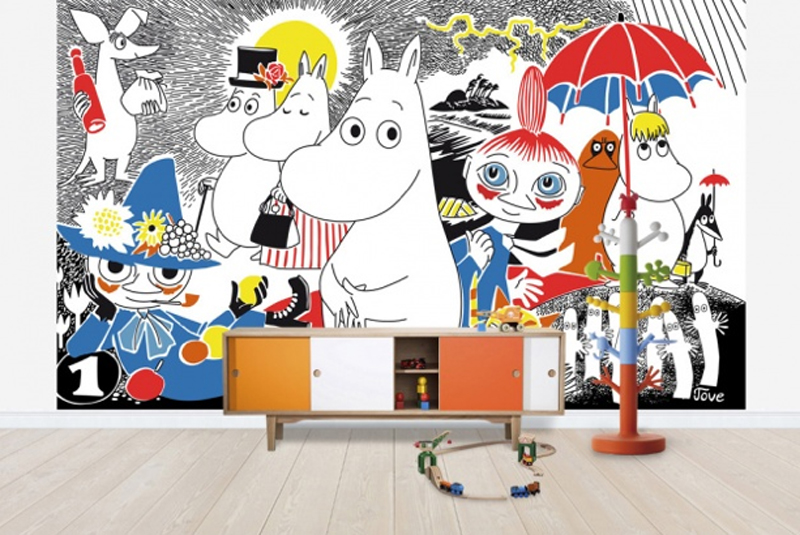 Epic I adore their children us range How fantastic is this Moomin decal One lucky reader can win a wall mural up to the price