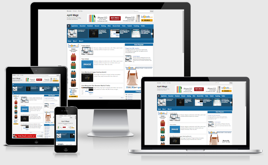 April Magz Responsive Blogger Template