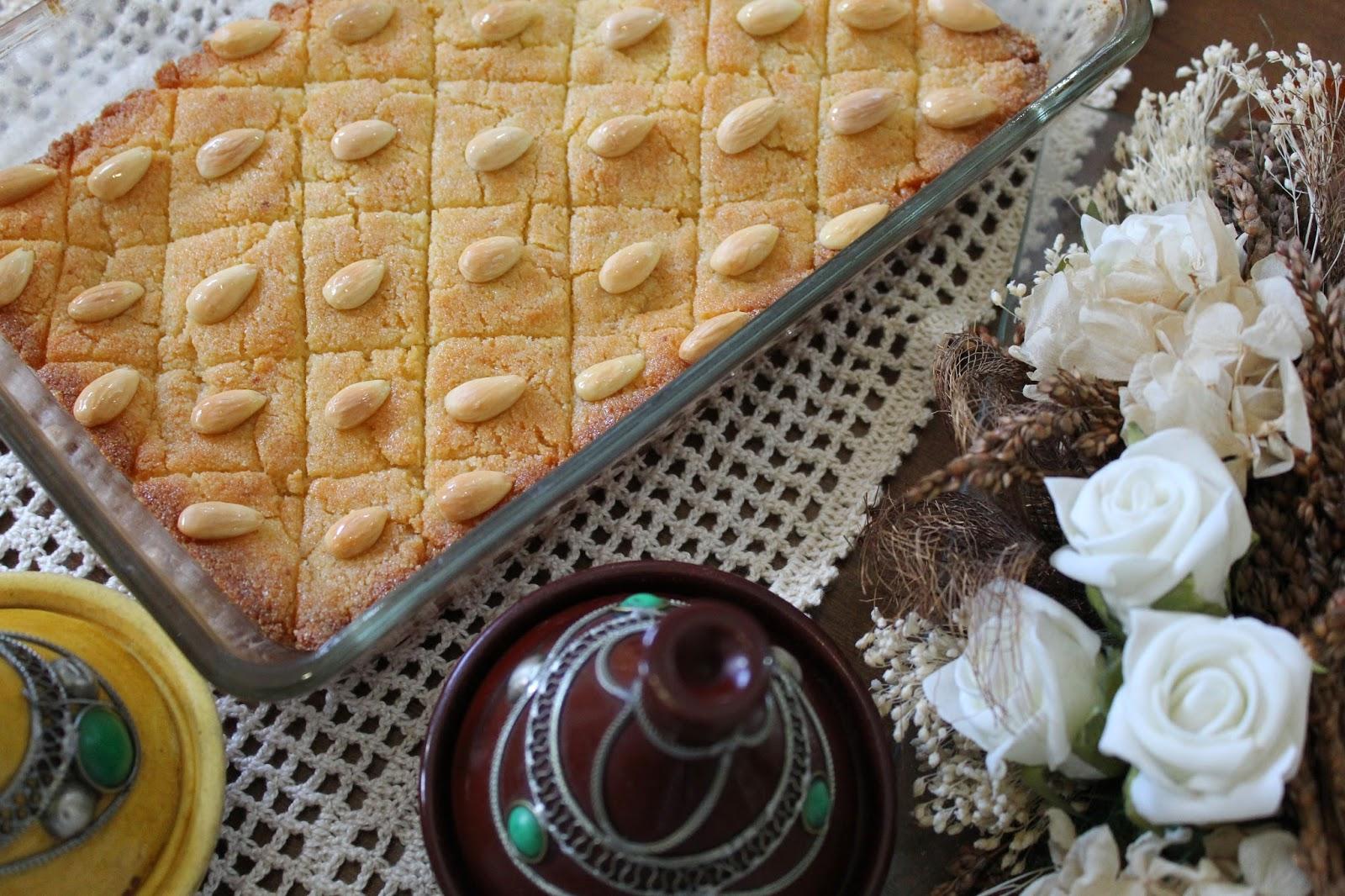 Basboussa-árabe-de-ramadán