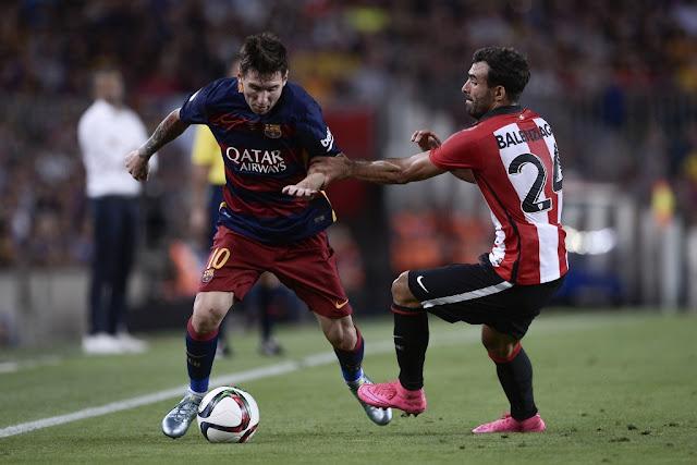 Messi marcou o gol do Barcelona no empate em 1 a 1 com o Athletic Bilbao (Foto: Josep Lago/AFP)