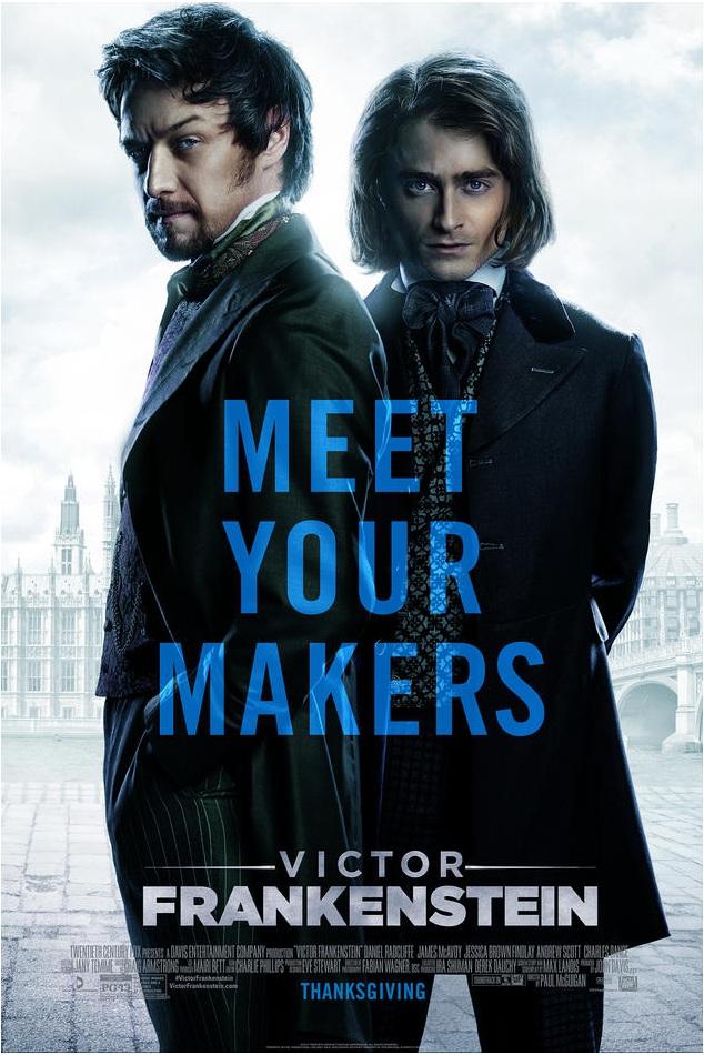 Frankenstein, avec James McAvoy (2015) Victor%2Bfrankenstein%2Bposter