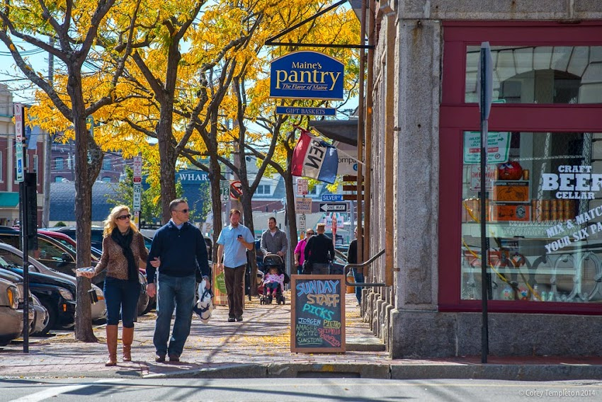 Portland, Maine Commercial Street Old Port Sunday Autumn Foliage October 2014 photo by Corey Templeton
