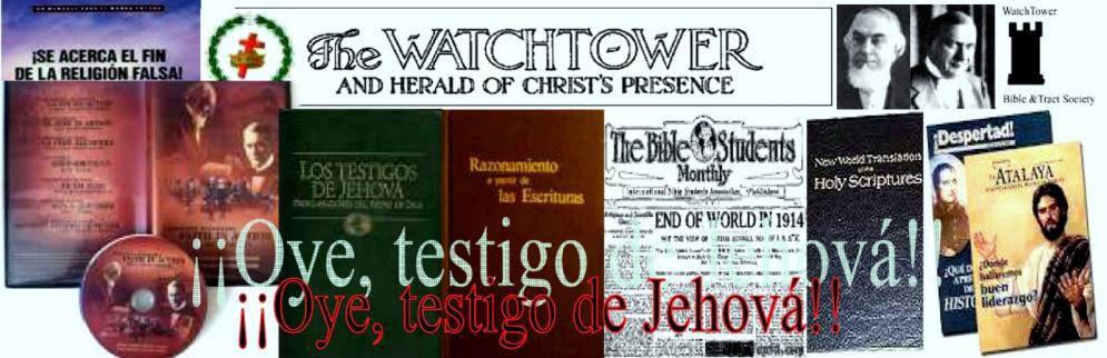 ¡¡¡¡¡Oye, Testigo de Jehová!!!!!