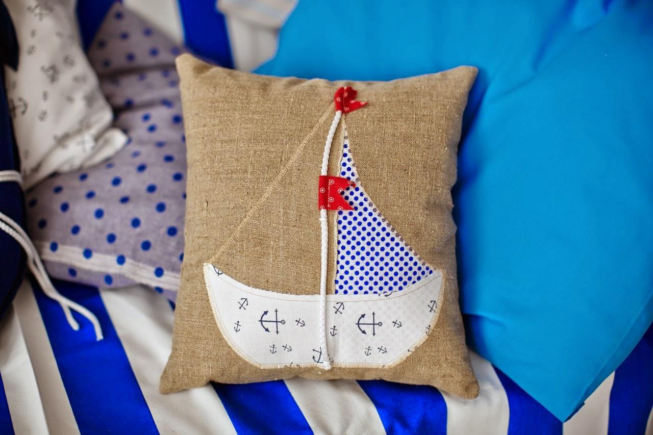 как сшить подушку, яна ти, декорации, фотостудия, морской декор