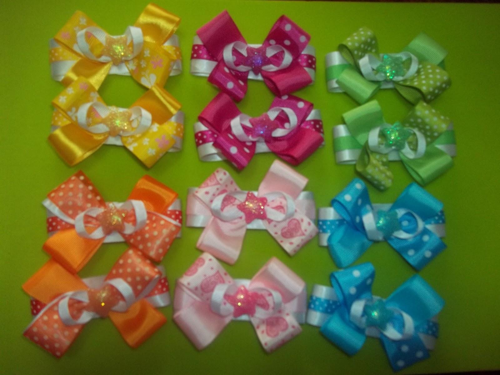 Princesita Cute by Chikley color: Lazos en cintas de gros y apliques