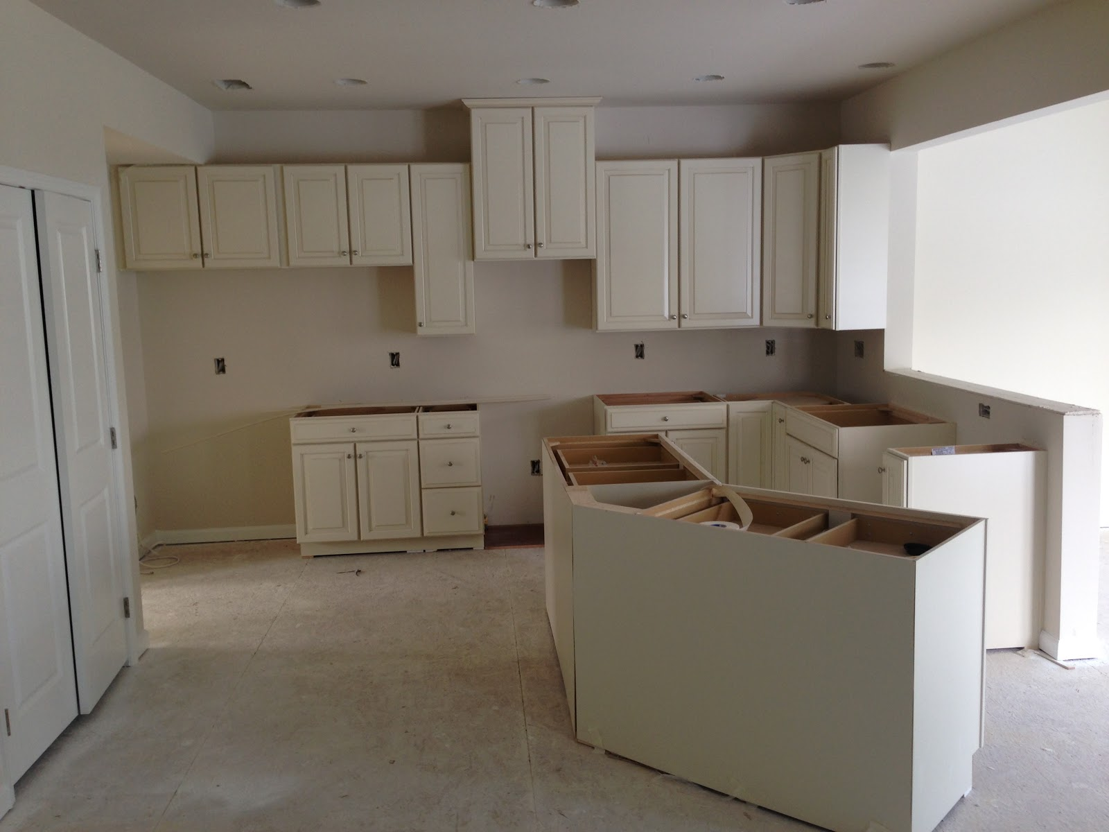 Kitchen Cabinets are in!