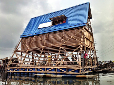 Scuola galleggiante a Makoko (Lagos), Nigeria