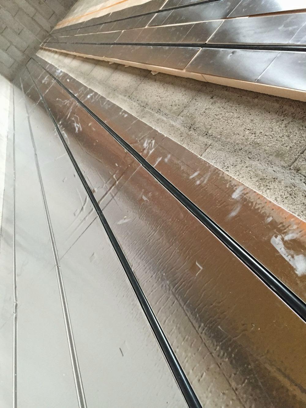 Banc de test pour tuyau de plancher chauffant sec Caleosol