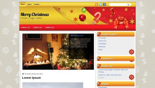 Christmas Blogger Template, Blogger Template, Merry Christmas
